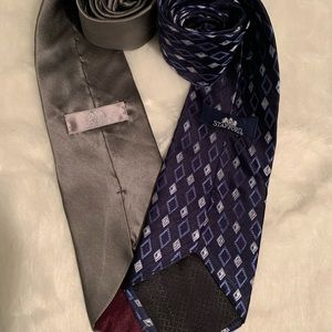 Stafford Ties. Complementary colors Lot of 2